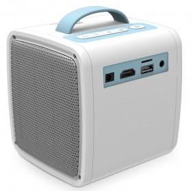 AUN Proyektor Mini Khusus Anak 320P 700 Lumens - Q2 - White - 9