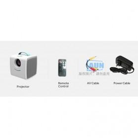AUN Proyektor Mini Khusus Anak 320P 700 Lumens - Q2 - White - 10