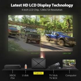 AUN C80 Proyektor Mini Smart HD 720P WiFi 2200 Lumens Android 6.0 - Black - 3