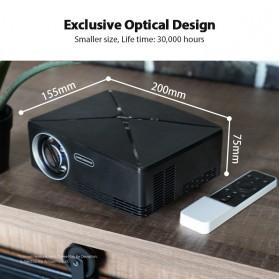 AUN C80 Proyektor Mini Smart HD 720P WiFi 2200 Lumens Android 6.0 - Black - 4