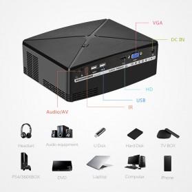 AUN C80 Proyektor Mini Smart HD 720P WiFi 2200 Lumens Android 6.0 - Black - 6