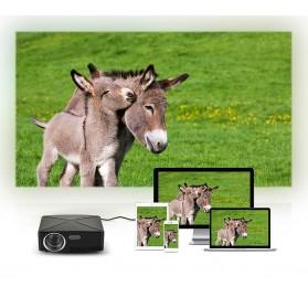 AUN C80 Proyektor Mini Smart HD 720P WiFi 2200 Lumens Android 6.0 - Black - 8