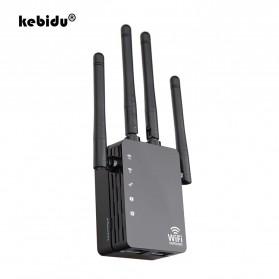 Kebidu Wireless WiFi Range Extender Amplifier Booster 802.11AC 1200Mbps - WR103 - Black