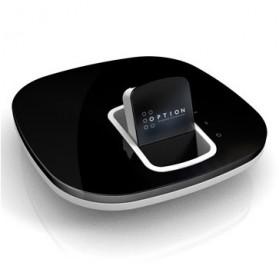 Option GlobeSurfer X.1 3G + Print Server + NAS (Logo Orange) - Black