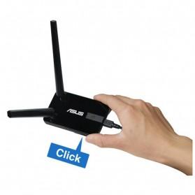 Asus Wireless N300 USB Adapter Dual 5dbi Detachable Antenna - USB-N14 - Black - 8