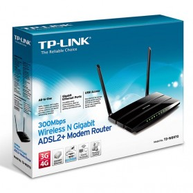 TP-LINK 300Mbps Wireless Router - TD-W8970 - Black - 4