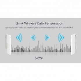 TP-LINK Outdoor CPE 2.4GHz 300Mbps 9dBi - CPE210 - White - 7