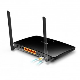 TP-LINK Wireless N Router WIFI 4G LTE SIM Card Slot 300Mbps -TL-MR6400 - Black