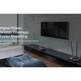 TP-LINK AC1350 High Power Wireless Dual Band Router - Archer C58HP - Black - 5