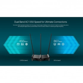 TP-LINK AC1350 High Power Wireless Dual Band Router Wi-Fi - Archer C58HP - Black - 6