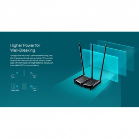 TP-LINK AC1350 High Power Wireless Dual Band Router Wi-Fi - Archer C58HP - Black - 9