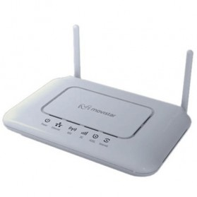 WiFi / Wireless Router / Access Point - Movistar ASL 26555 OpenWRT ADSL + Network Storage + 3G Wireless Router + WiFi Hotspot - White