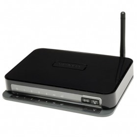 Netgear DGN1000 Wireless-N 150 Router with ADSL2/2+ Modem - Black