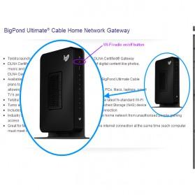Netgear CG3100D-2BPAUS Gigabit Gateway WiFi Router 300Mbps - Black - 2