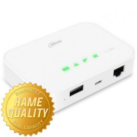 Hame A19 - 3G Mobile Power Router HSPA+ 21.6Mbps + Power Bank 5200mAh - HAME MPR-A19 - Silver