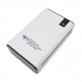 Mini Mobile Power Router + Power Bank + Card Reader 7000mAh - White
