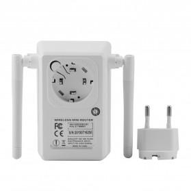 Wireless WiFi Range Extender Amplifier 300Mbps - White - 7