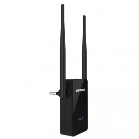 WiFi / Wireless Router / Access Point - Comfast WiFi Range Extender Amplifier 300Mbps 10dbi - CF-WR302S - Black