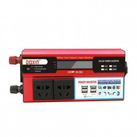 DOXIN Car Power Inverter DC 12V to AC 220V 1500W with 4 USB Port - MH1500 - Red