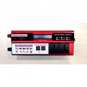 DOXIN Car Power Inverter DC 12V to AC 220V 1500W with 4 USB Port - MH1500 - Red - 2