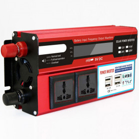 DOXIN Car Power Inverter DC 12V to AC 220V 1500W with 4 USB Port - MH1500 - Red - 3