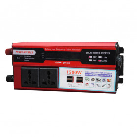 DOXIN Car Power Inverter DC 12V to AC 220V 1500W with 4 USB Port - MH1500 - Red - 6