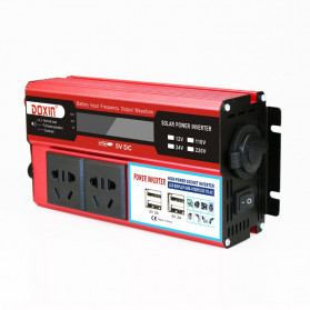 DOXIN Car Power Inverter DC 12V to AC 220V 1500W with 4 USB Port - MH1500 - Red - 10