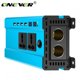 ALLOMIN Car Power Inverter DC 24V to AC 220V 1200Watt 4 USB Port - AKZ907 - Blue