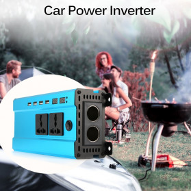 ALLOMIN Car Power Inverter DC 12V to AC 220V 1200Watt 4 USB Port - AKZ907 - Blue - 2