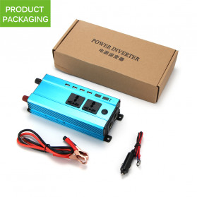 ALLOMIN Car Power Inverter DC 12V to AC 220V 1200Watt 4 USB Port - AKZ907 - Blue - 7