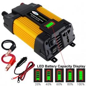 Tancredy Car Power Inverter Transformer Display DC 12V to AC 220V 4000W - Tcy101 - Yellow