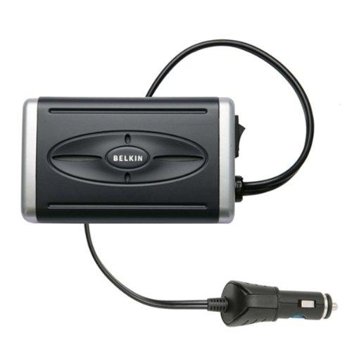 BELKIN Power Inverter Mobil dengan USB Port 85W 220V - FSL026zh85W - Black .