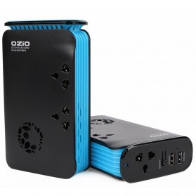 Ozio Car Inverter Colokan Listrik Mobil 200W - LB20 - Black/Blue