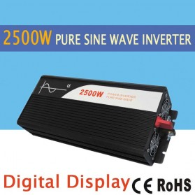 Car Power Inverter Pure Sine Wave DC 12V to AC220V 2500W - SP-2500L - Black