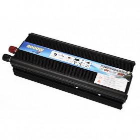 Taffware Rectangle Car Power Inverter DC 24 Volts to AC 220V 2000Watt - PI2000 - Black - 2