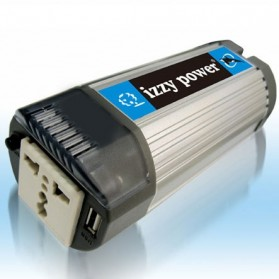 Car Inverter DC-AC - IZZY POWER Car Inverter Model HT-E-150CO-12 150 watt 12 Volts Cylinder - Gray