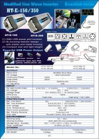 IZZY POWER DC to AC Car Inverter HT-E-150-12 150 Watt 12 Volts - with powerful USB power port - 2