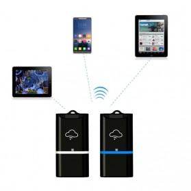 Wireless WiFi Card Reader Micro SD - 4N02254 - Black/Blue - 3