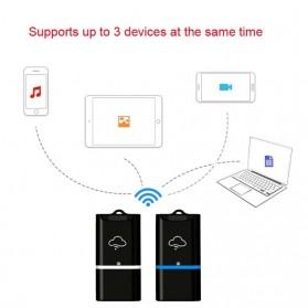 Wireless WiFi Card Reader Micro SD - 4N02254 - Black/Blue - 4