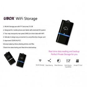 Wireless WiFi Card Reader Micro SD - 4N02254 - Black/Blue - 5