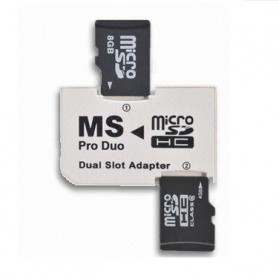 Winfos MS Pro Duo Dual Slot Adapter - White - 1