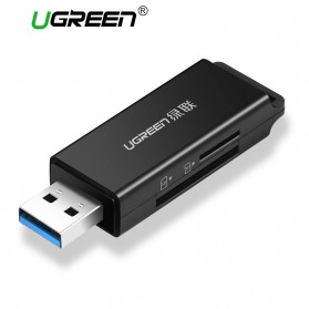 UGreen 2 in 1 Card Reader USB to Micro SD + SD Card USB 3.0 - CM104 - Black