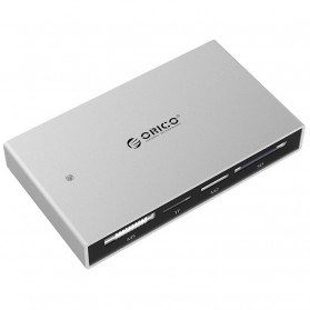 Orico Aluminium All-in-1 USB3.0 Card Reader USB 3.0 Cable - 7566C3 - Silver