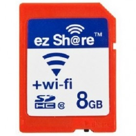 EZ Share Wi-Fi microSD Adapter Card Reader Up To 8GB - Red