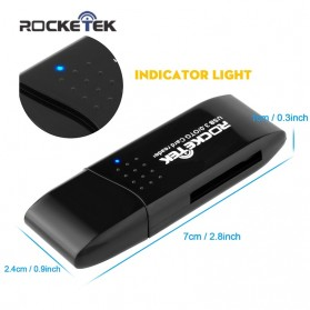 Rocketek Card Reader OTG Micro USB & USB 3.0 Micro SD / SD Card 5Gbps - RT-CR9 - Black - 3