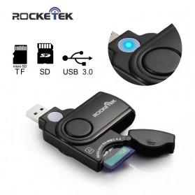 Rocketek Card Reader USB 3.0 Micro SD / SD Card 5Gbps - RT-CR3 - Black