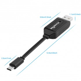 Rocketek Card Reader OTG USB Type C & USB MicroSD / SD Card - RT-UTG03 - Black - 4