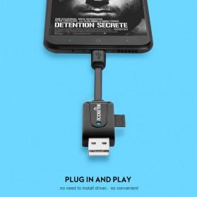 Rocketek Card Reader OTG USB Type C & USB MicroSD / SD Card - RT-UTG03 - Black - 5