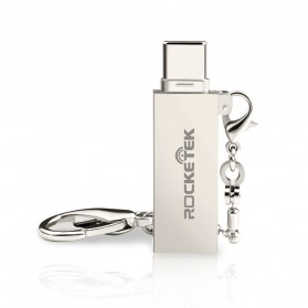 Rocketek OTG Card Reader USB 2.0 Type C Micro SD - RT-TCR6 - Silver - 2