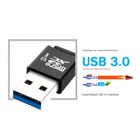 Rocketek Card Reader USB 3.0 Micro SD - RT-CR9A - Black - 3